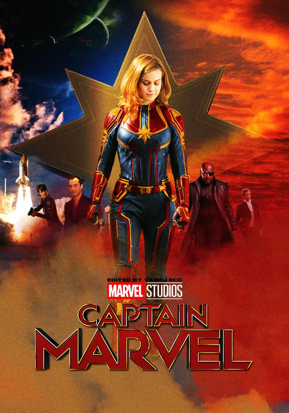 Captain Marvel Brie Larson From Avengers Hd Wallpapers