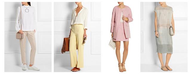 Одежда пастельного цвета с нейтральной одеждой и нейтральными аксессуарами