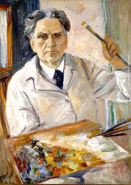 Martiros Sarian, Self Portrait, Portraits of Painters, Fine arts, Martiros Sarian
