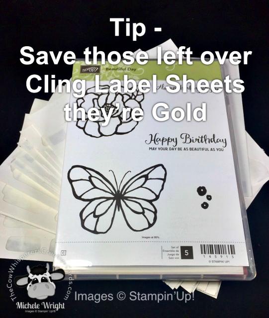 Tip, Cling Scraps, Old Stamp Sets, Save, Stampin UP