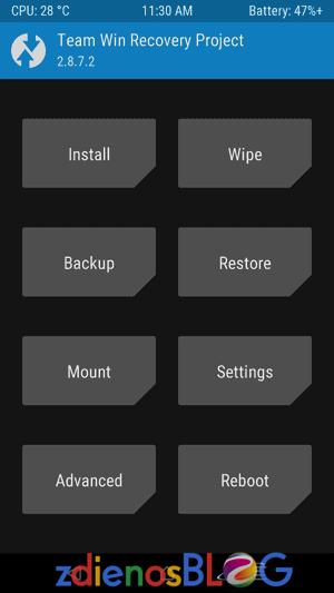 TWRP - Cara Cepat Mengatasi Lupa Pola Android