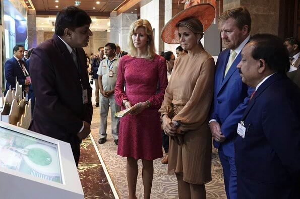 Queen Maxima wore Natan dress at the India-Netherlands Tech Summit