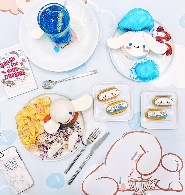 Singapore FIRST Kumoya X Cinnamoroll Pop-Up Cafe (LIMITED TIME ONLY!) at Jalan Klapa!
