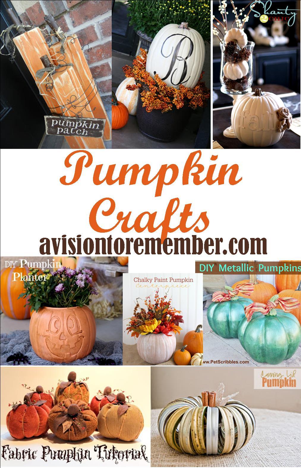 pumpkin crafts ideas on avisiontoremember.com