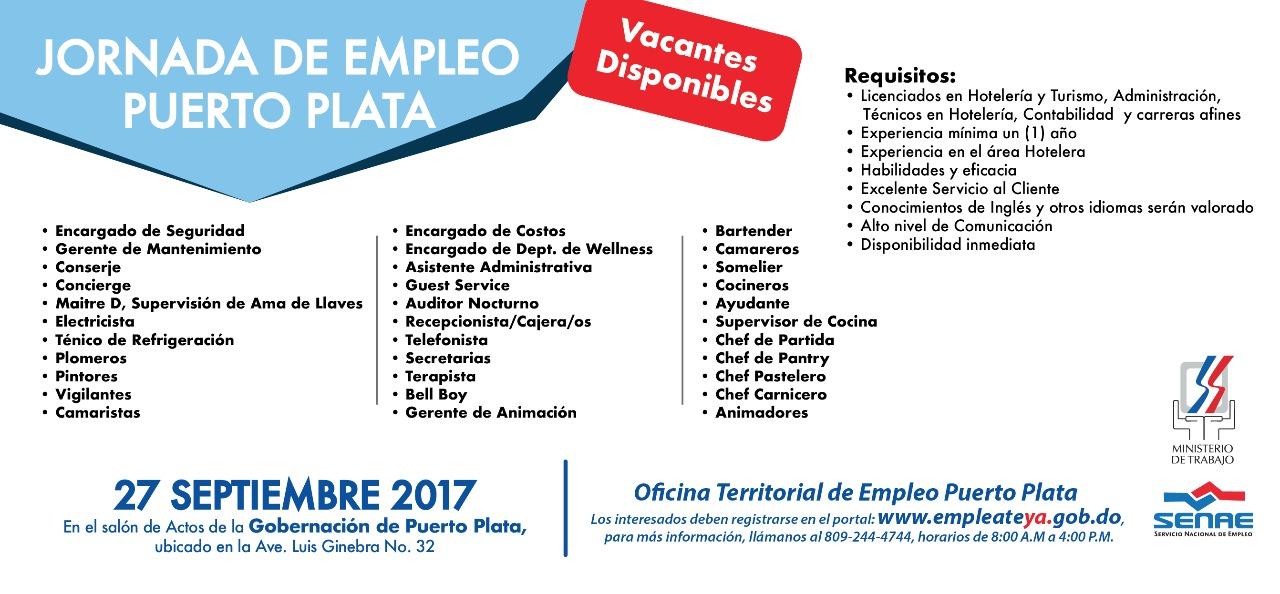 Ministerio de trabajo invita a jornada de empleo en puerto for Oficina estatal de empleo
