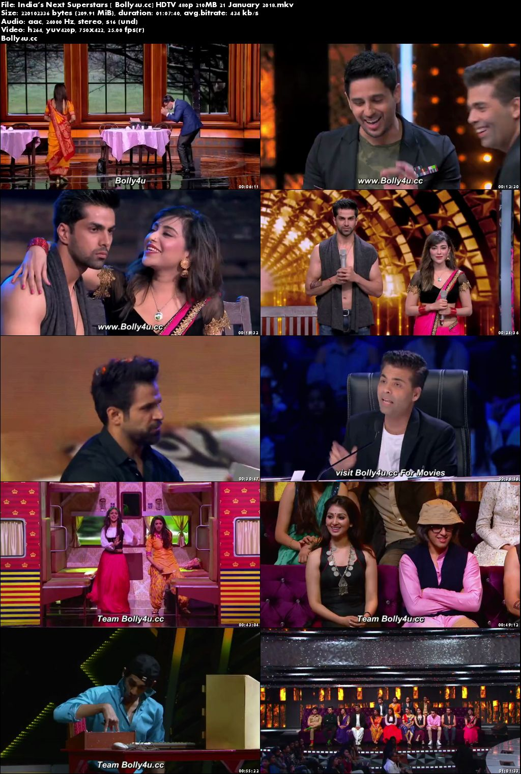 India's Next Superstars HDTV 480p 200MB 21 January 2018 Download