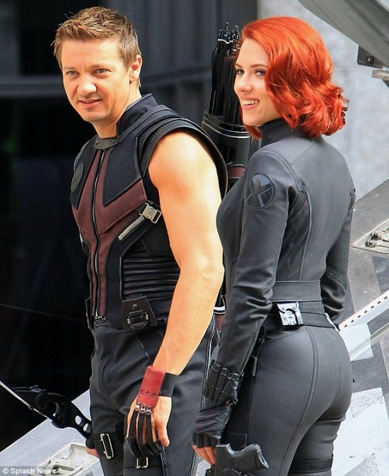 Scarlett Johansson Black Widow celebrityleatherfashions.filminspector.com