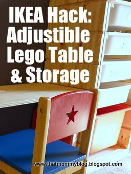 Lego Storage And Play Table: An Easy IKEA Hack!