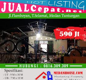 dijual rumah murah Jl.Flamboyan, T.Selamat, Medan Tuntungan <del>Rp 650.000.000,-</del> <price>Rp 590.000.000,-</price> <code>FLBYNT</code>