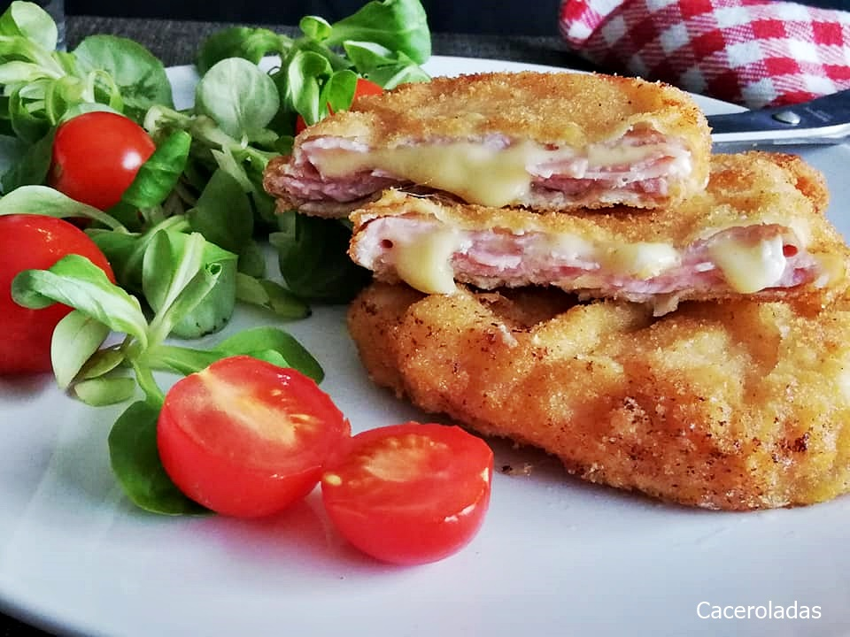 San Jacobos de lomo con jamón y queso