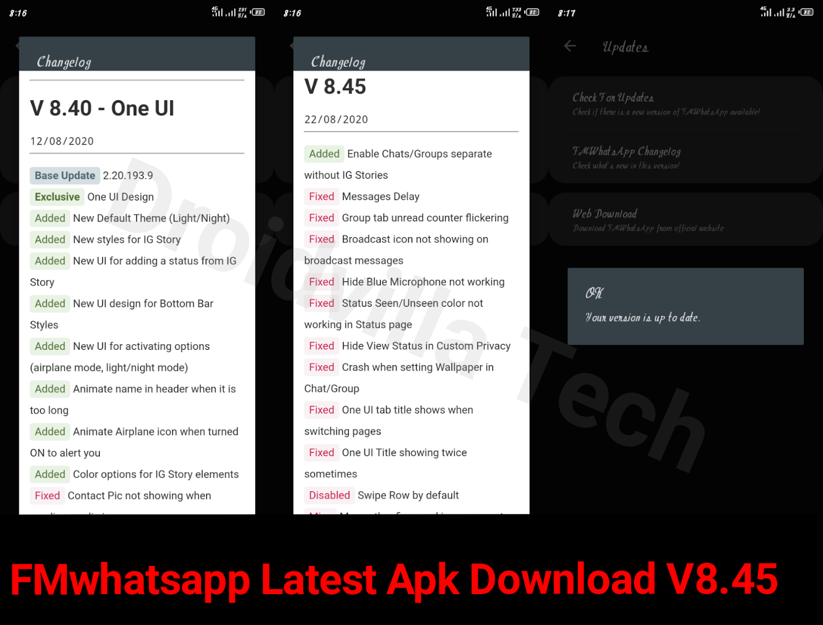 FMwhatsapp v8.45 latest download