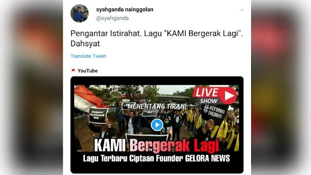 """Syahganda Nainggolan: Lagu """"KAMI Bergerak Lagi"""" Dahsyat!"""