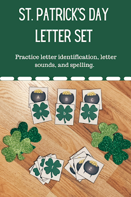 St. Patrick's Day Upper and Lower Case Alphabet practice