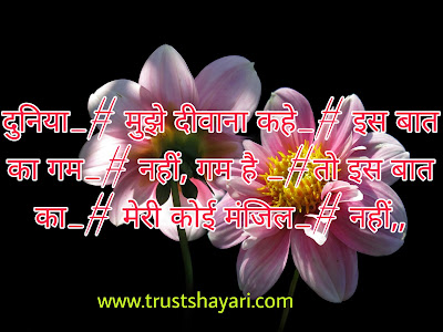 sad shayari in hindi on love... सैड शायरी for लव