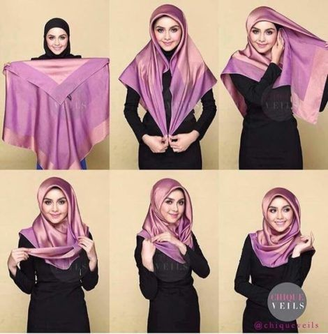 tutorial hijab 2021