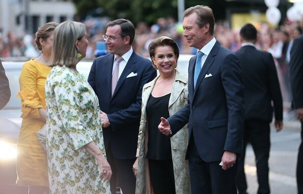 Hereditary Grand Duke Guillaume, Hereditary Grand Duchess Stephanie, Prince Felix, Prince Louis, Princess Alexandra