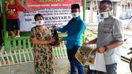 Sosperda Narkoba, Anggota DPRD Lampung Azuwansyah Pinta Masyarakat Bantu Cegah Covid-19