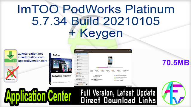ImTOO PodWorks Platinum 5.7.34 Build 20210105 + Keygen