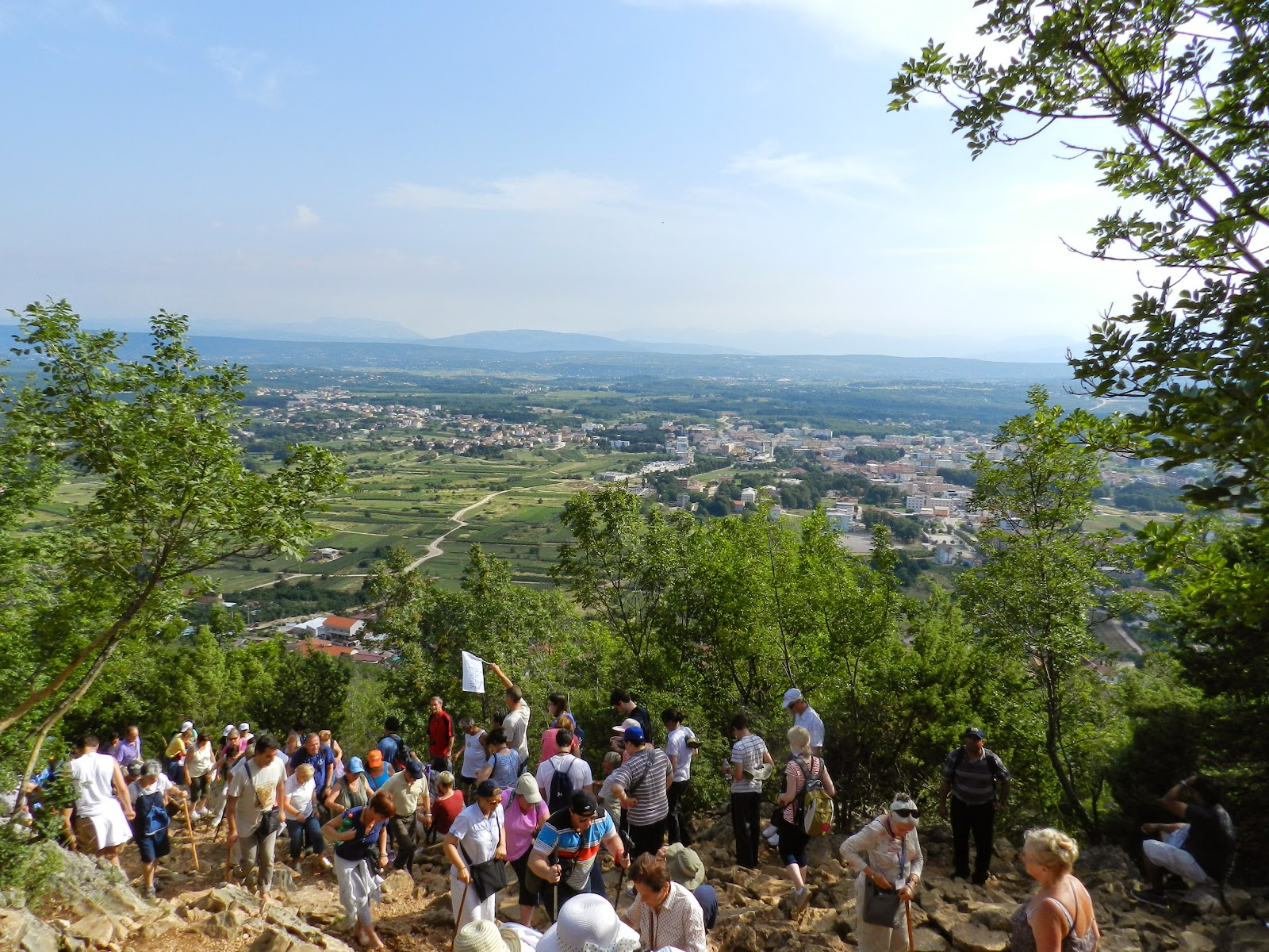 View of the valley of Medjugorje between the 7 & 8 Stations of the Cross