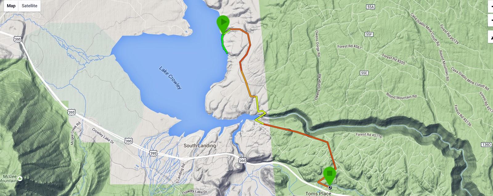 Mid Sierra Musings Crowley Lake CA Views And The Columns - Crowley lake map