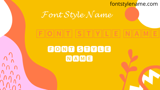 Font Style Name