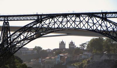 vista das pontes e da cidade do Porto