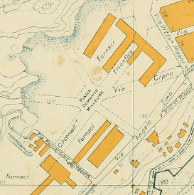 Piazza Millelire mappa Marino Gigli