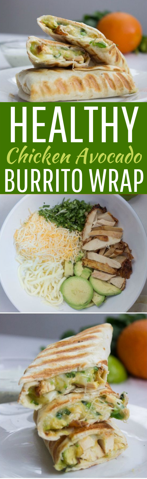Quick and Easy Chicken Avocado Burritos #dinner #lunch