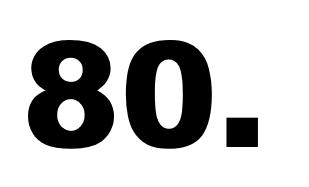 achtzigste