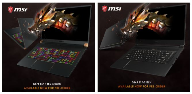 MSI RTX Powered GS75 and GS65 Stealth Pre-Order Begins