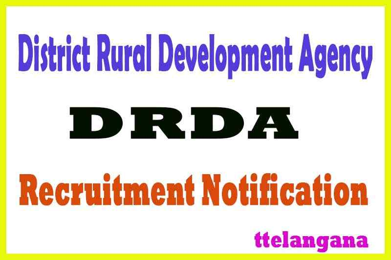 District Rural Development Agency DRDA Recruitment Notification