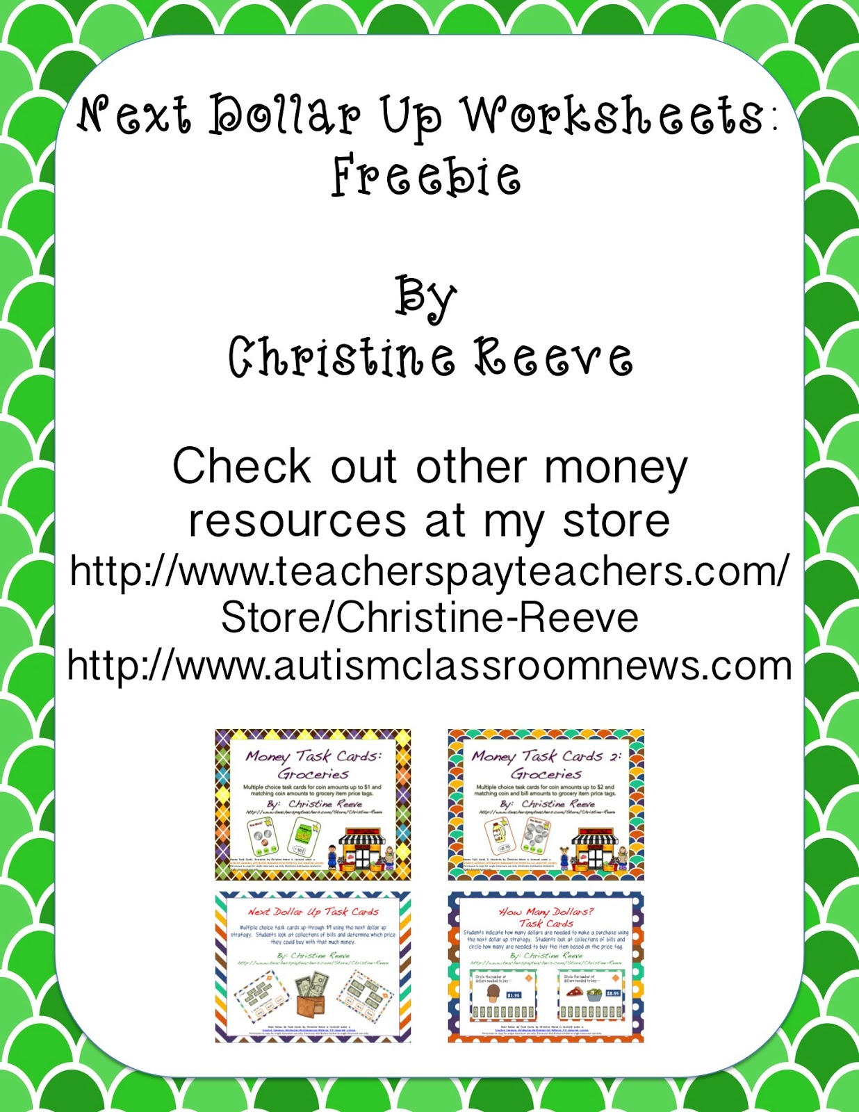 Next Dollar Up Strategy Resources and Freebie Autism Classroom – Dollar Up Worksheets