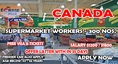 Supermarket Workers Urgently Needed in Canada – Apply Now