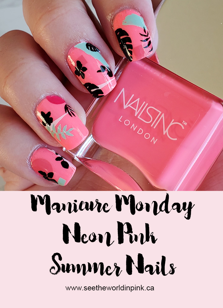 Manicure Monday - Neon Pink Summer Nails!