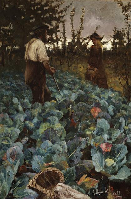 1877. Arthur Melville - A Cabbage Garden