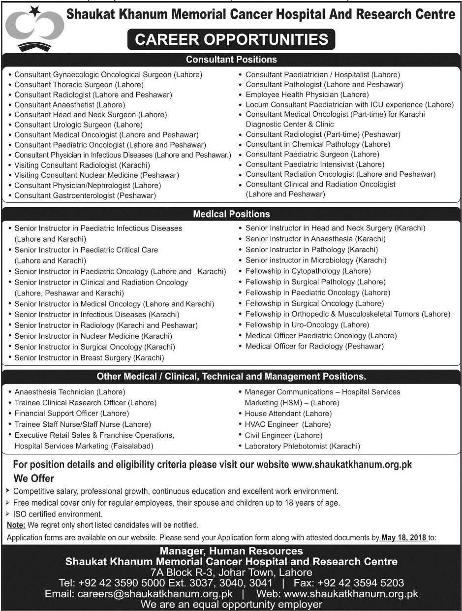 shaukat-khanum-jobs-latest-may-2018-for