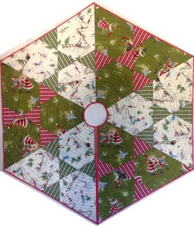 Quilted Christmas Tree Skirt Patterns: Free Patterns To Sew