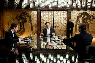 ken watanabe as saitu, joseph-gordon-levitt as aurthur, leonardo dicaprio as cobb in inception