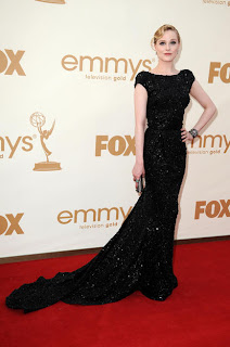 Evan Rachel Wood (Elie Saab Gown, Fred Leighton Jewelry, Judith Leiber Clutch)