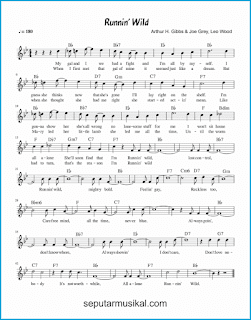 chord runnin' wild lagu jazz standar