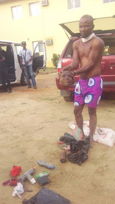 Wickedness!! Man Caught with Fresh Human Head, Vagina, Lungs, Other Body Parts in Osogbo (Disturbing Photos) +18 holykey1.com