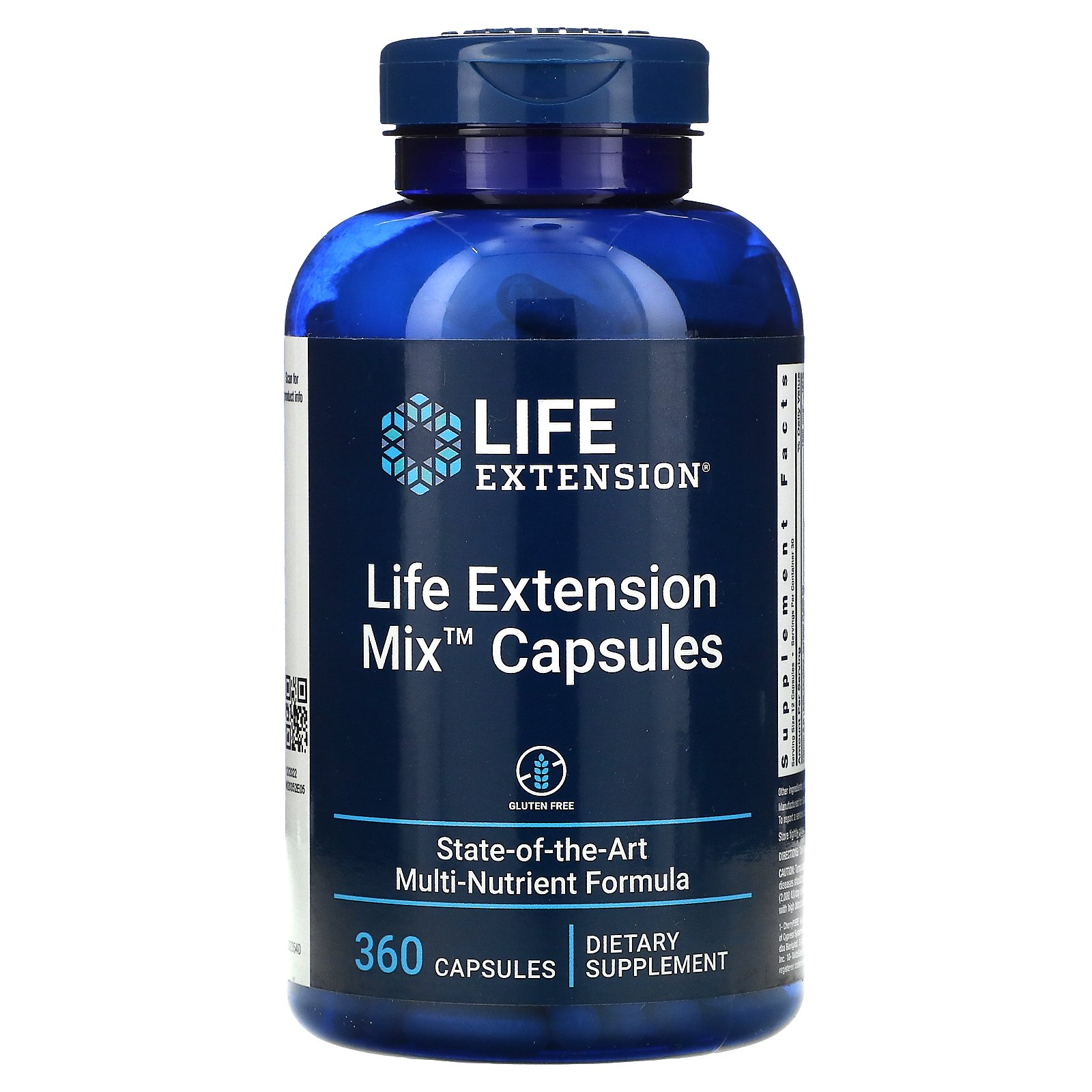 Life Extension, Mix, комплексная добавка в капсулах, 360 капсул