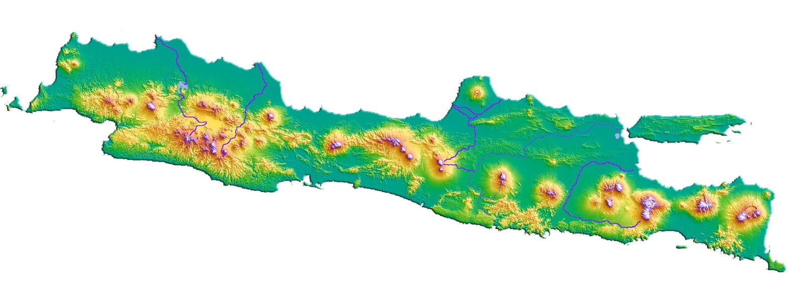 Peta Pulau Jawa Lengkap Keterangannya Sejarah Negara Gambar Buta Mewarnai