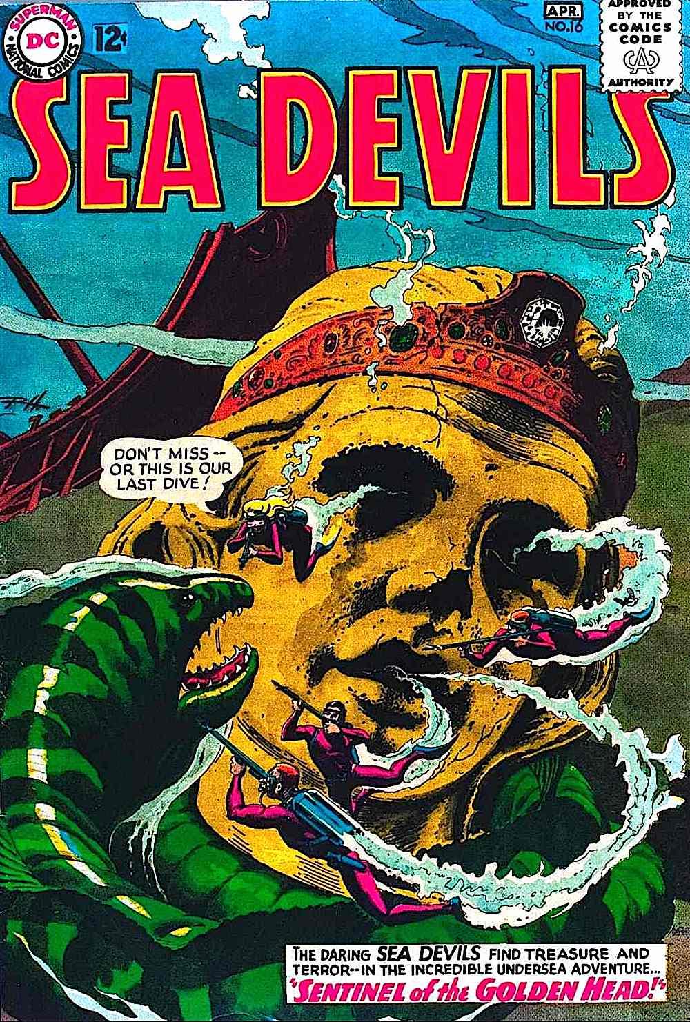 Sea Devils, a comic book by Russ Heath, Sentinal of The Golden Head