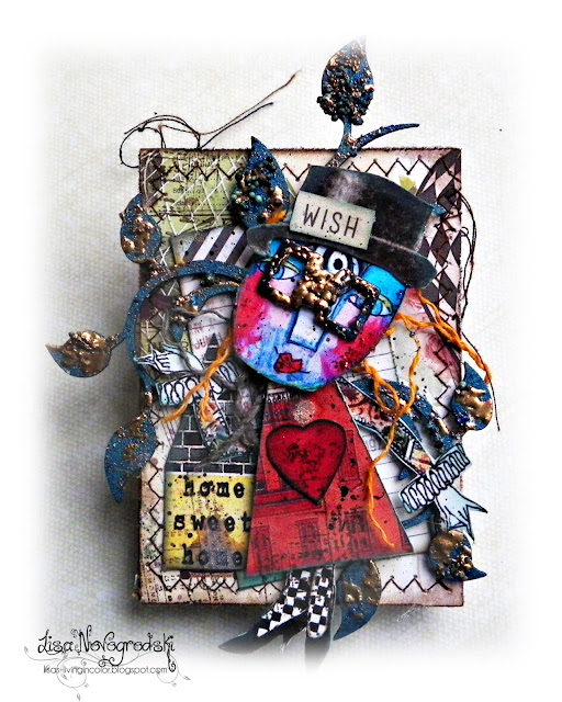 ATC by Lisa Novogrodski for the Scraps of Darkness On Line Store
