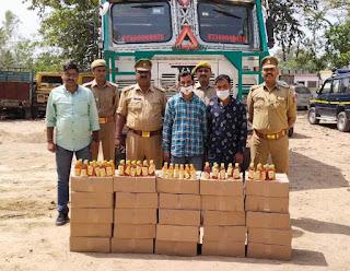 35 लाख की अवैध शराब के साथ अहमदपुर टोल प्लाजा पर दो तस्कर गिरफ्तार