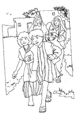 I bambini corrono da Gesù