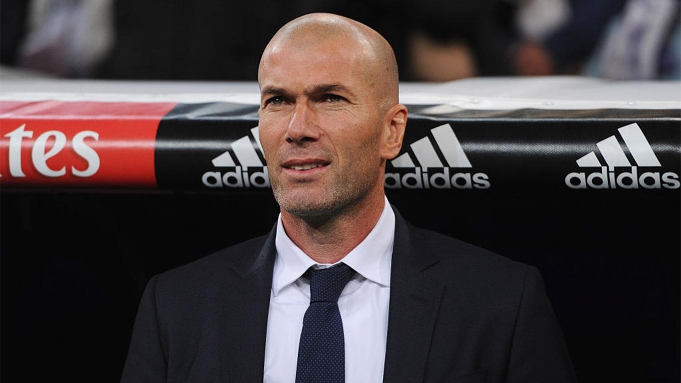 zinedine-zidane-manager-of-real-madrid-looks-on-prior-to-news-photo