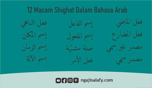 Definisi Shighot, Pembagian dan Contohnya