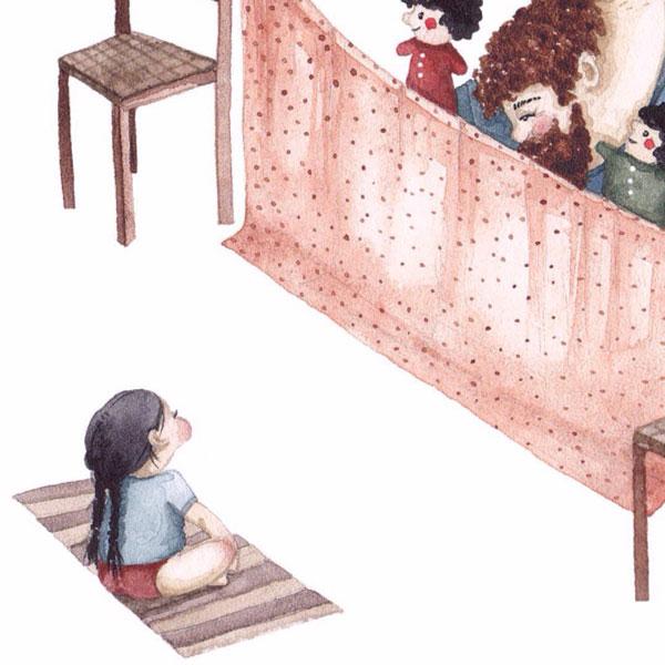 ilustrasi hubungan emosional ayah dan anak perempuan
